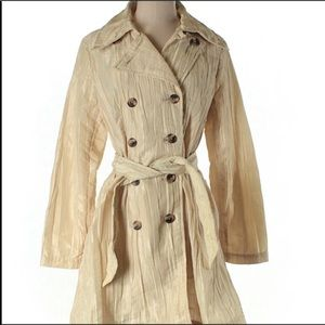 Classic style trench in crinkle detail SZ M
